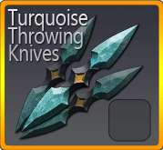 Turquoise Throwing Knives
