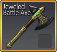 Jeweled Battle Axe
